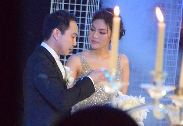 Tiệc cưới của Lan Khuê diễn ra tại trung tâm tiệc cưới nổi tiếng ở TP.HCM