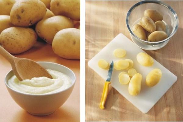 Mặt nạ trị nám tàn nhang bằng nước ép khoai tây