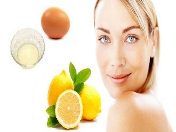 Mặt nạ cho da dầu bằng lòng trắng trứng gà và nước cốt chanh