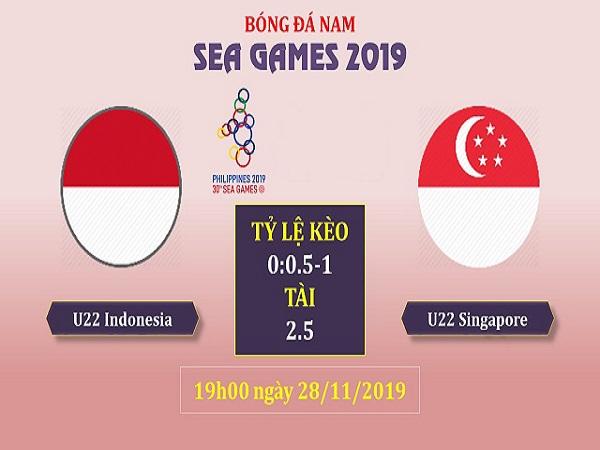 Nhận định U22 Indonesia vs U22 Singapore 19h00, 28/11 (SEA Games 30)