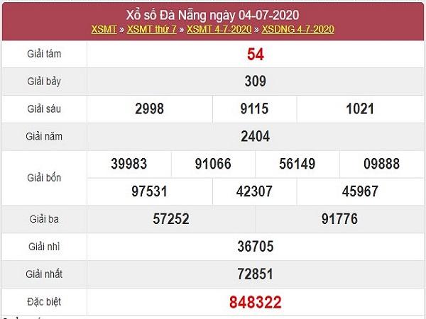 Thống kê xổ số Đà Nẵng 8/7/2020 thứ 4 chi tiết nhất
