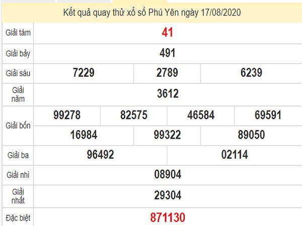 Phân tích XSPY 17/8/2020 hôm nay - Phân tích XSPY 17/8/2020 chuẩn nhất - Soi cầu dự đoán xổ số Phú Yên ngày 17 tháng 8 năm 2020. Tham khảo thống kê soi cầu