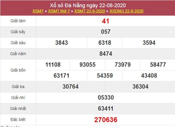 Thống kê XSDNG 26/8/2020 chốt KQXS Đà Nẵng thứ 4